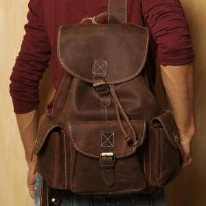 Genuine Leather backpack / Briefcas..