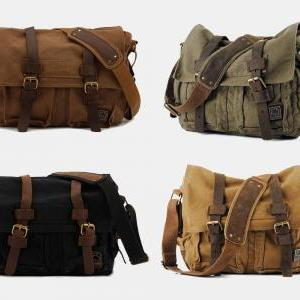 Large Canvas Bag   Crossbody Bag   Briefcase   Messenger   Laptop ... 0910e5ab5b3d4