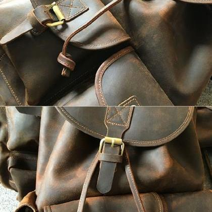 Leather backpack / Bag / Briefcase ..