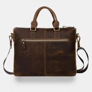 Genuine Leather Briefcase - Leather..