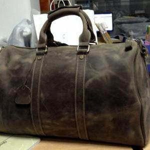 Large Travel Bag / Genuine Leather ..
