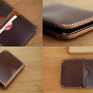 Mens Leather Wallet // Chestnut Bro..