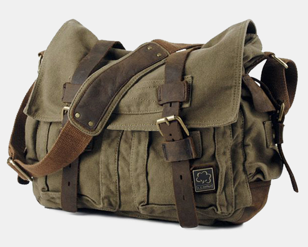 Large Canvas bag   crossbody bag   Briefcase   Messenger   Laptop   Men s  Bag   e55e175111861