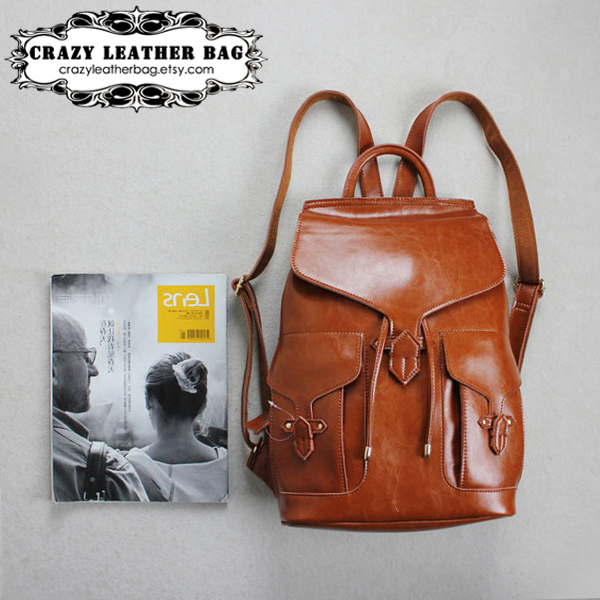 women backpack / Genuine Leather backpack / women Briefcase / Messenger / Leather Laptop / Leather package