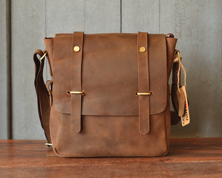 5de2860eaf Leather Briefcase   Messenger Bag   Leather Laptop   Crossbody bag   school  bag   Men s