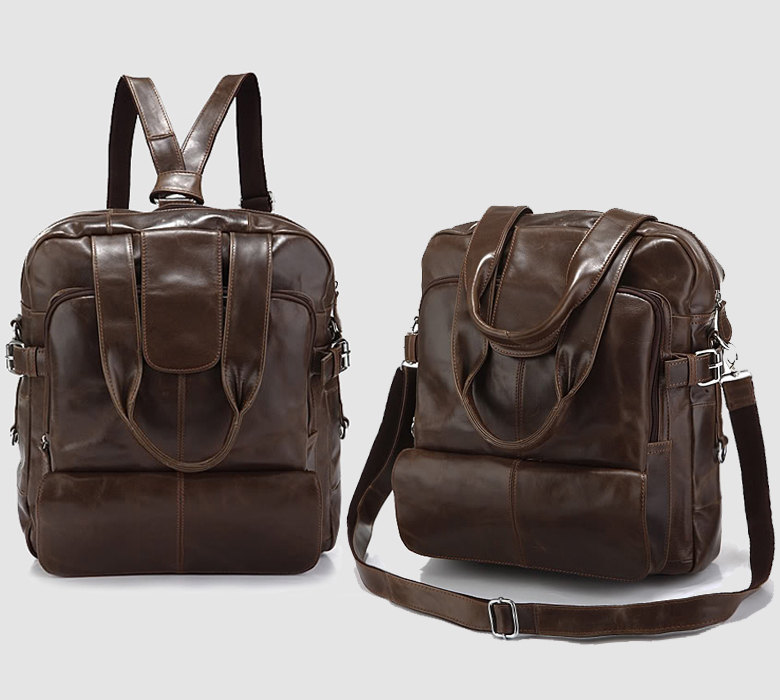 Genuine Leather Backpack / Travel Bag / Leather Satchel / Leather Bag / Travelling Bags / Weekend Bag-Y5