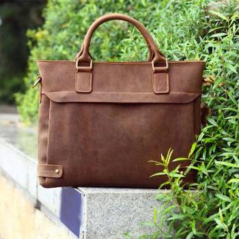 df060d3053 ... Men s Bag Handmade 100%cowhide leather laptop - Briefcase - Leather  Laptop - school bag - crossbody