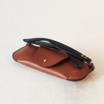 Handmade glasses case , Leather Sunglasses Case , Leather glasses case