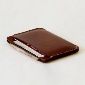 Men's Leather Wallet Sleeve / Wallets for Men / Retro Brown Leather Wallet DOUBLE Sleeve - Best Groomsmen Gifts